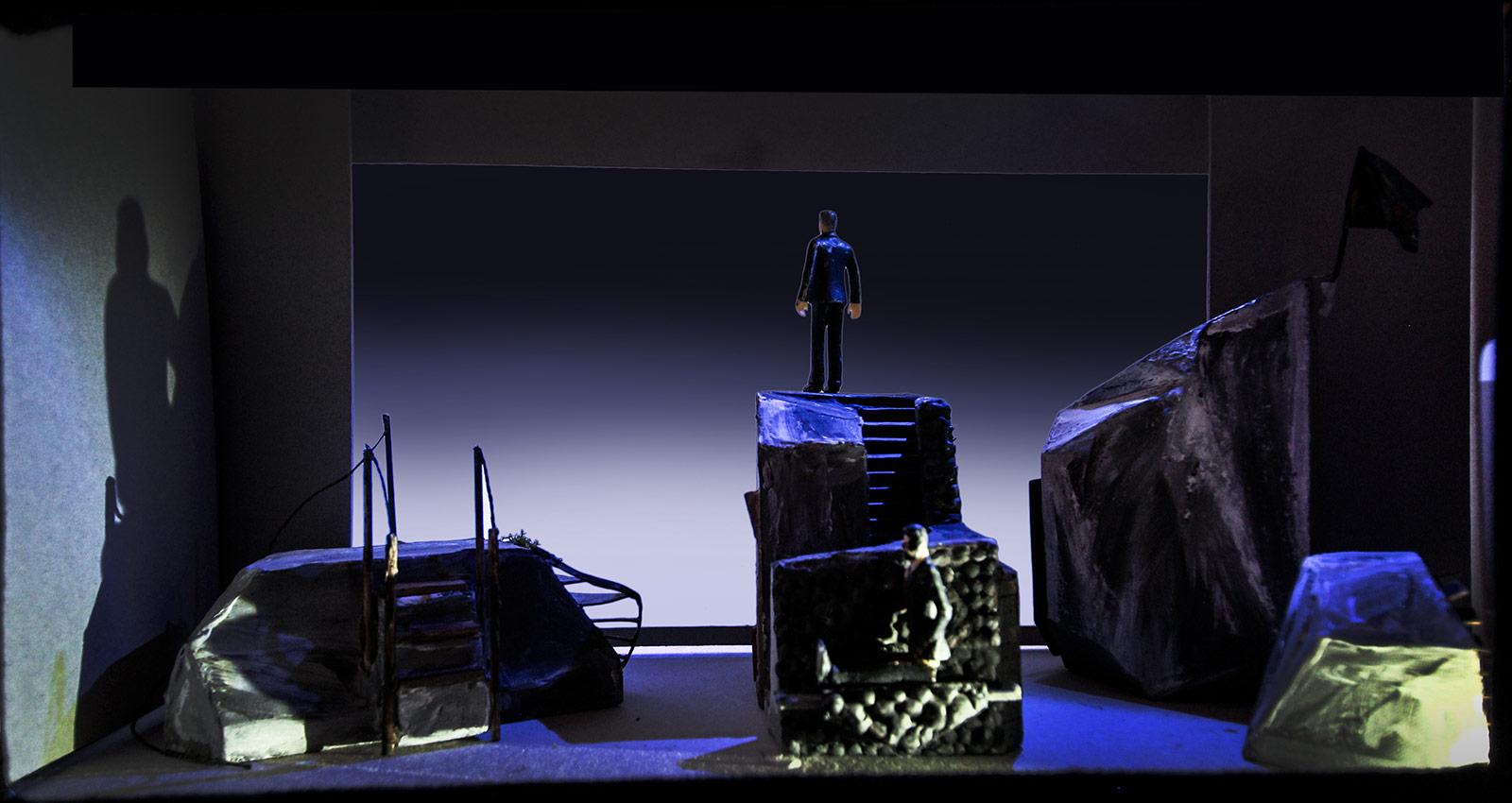 Bühnenbild der Kinderoper 2021 –Tristan und Isolde
